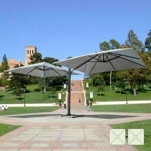 Paraguas de doble brazo bar Contract jardín Oslo – OS303POL, Parasol ajustable con brazo doble