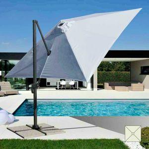 Paraguas de jardín profesional de aluminio – PA303UFR, Paraguas con brazo, para piscinas y restaurantes al aire libre