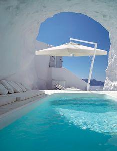 Santorini Braccio, Acero y el paraguas de aluminio, en varios tamaños