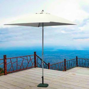 Sombrilla central cuadrada de aluminio 2x2 barra bar hotel PLUTO - PL200UFR, Parasol cuadrado de aluminio con poste central