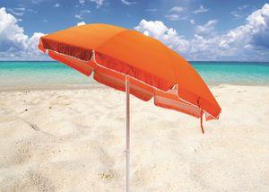 Doble playa paraguas mar de algodón – TR200COT, Sombrilla en acero y tela adecuada para la playa