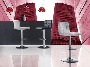 Art. 574 Jazz, Regulable en altura taburete, asiento de cuero de imitación