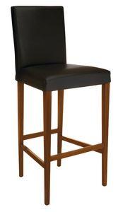 SG 1012, Taburete de madera con asiento y respaldo tapizados