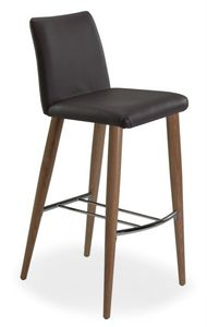Xelle SGFW, Taburete con base en roble y asiento de cuero genuino