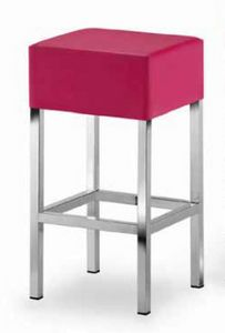 Cube-T, Taburete acolchado con asiento cuadrado