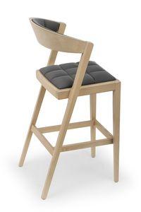 Zanna UPH stool, Elegante taburete de madera