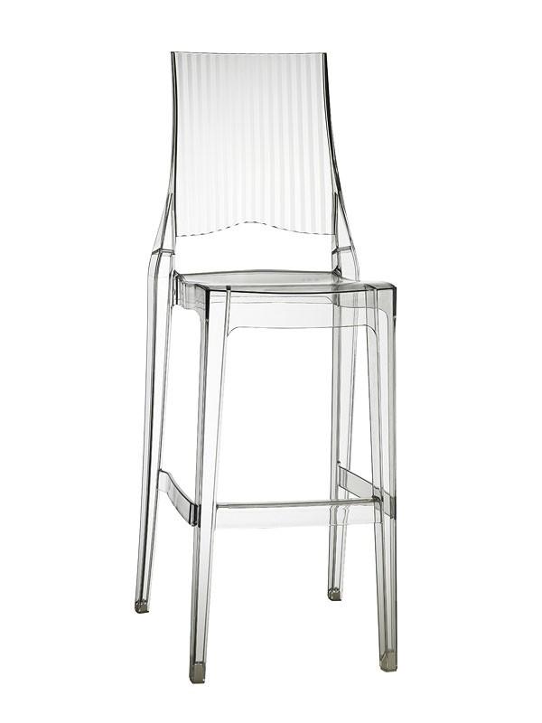 Glenda taburete, Taburete de policarbonato, apilable, asiento a 74 cm