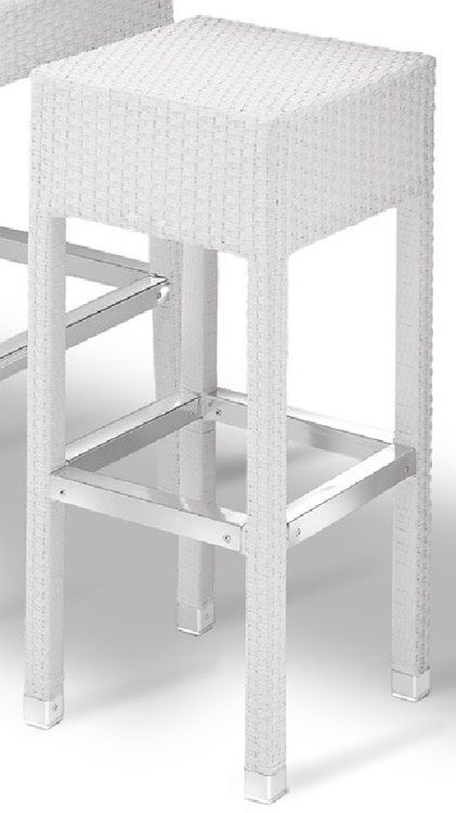 SG 710, Taburete de tejido moderno con reposapiés, para el aire libre
