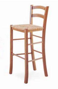 Paesana-A B, Taburete rústico, con asiento de paja