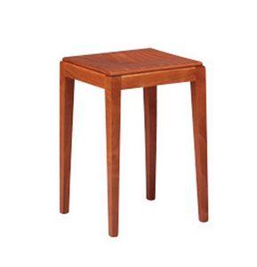 253, Taburete bajo en madera de haya, estilo robusto, sencillo
