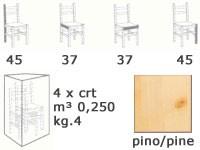 H/303, Taburete de madera maciza, ideal para el piano