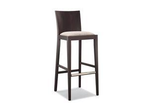 161 SG, Taburete de madera, asiento acolchado, para la barra moderna