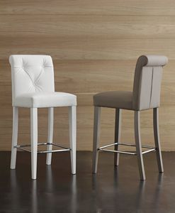 Art. 564 Billionaire stool, Taburete ecoleather de tacto suave de alta calidad