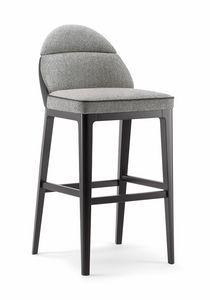 ASTON BAR STOOL 062 SG, Taburete de diseño lineal y sencillo