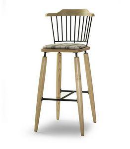 CG 958085 SG, Taburete en madera con asiento tapizado