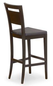 Lory stool, Taburete de madera con asiento acolchado