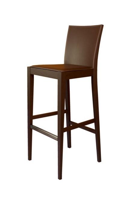 M17 SG, Taburete en madera de haya, asiento cubierto en cuero