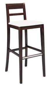 SG 490 / EI, Pintado taburete de madera, asiento cubierto en cuero