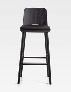 Tablet, Taburete de madera, con asiento tapizado