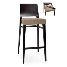 Timberly 01783 - 01793, Taburete apilable con madera maciza, asiento acolchado