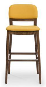 Tosca stool, Taburete acolchado, con respaldo disponible en 3 versiones