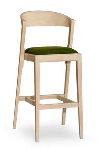 Zanna stool, Taburete de bar moderno en madera