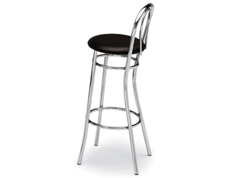 538, Taburete de acero curvado, asiento redondo, para bares