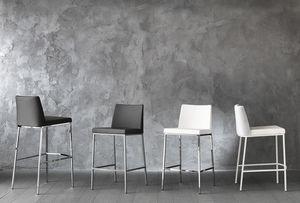 Art. 561 Erik, Taburetes de metal cromado, con asiento tapizado