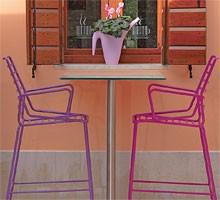 Link ST, Barra de diseño de las heces todo el metal, hecha para uso al aire libre