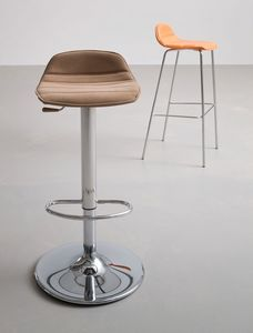Alhambra Stool 97 AV I, Taburete regulable en altura, base de metal cromado
