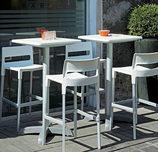 Divo stool, Taburete apilable para el estilo exterior, moderno
