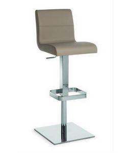Flexa SG, Taburete de metal con asiento y respaldo tapizados