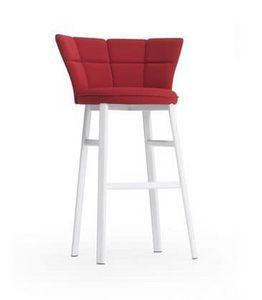 Sector ST, Taburete moderno para la barra, tubo oval, asiento acolchado
