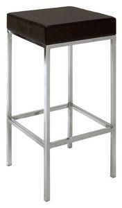 SG 011, Taburete de metal cromado, asiento tapizado, para la cocina