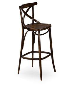 Croce SG, Taburete de madera maciza, para restaurantes y bares