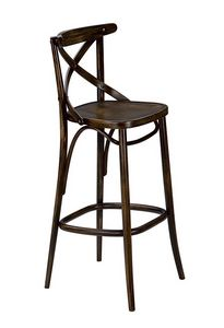 Golia SG, Taburete en madera curvada, para pubs y tabernas
