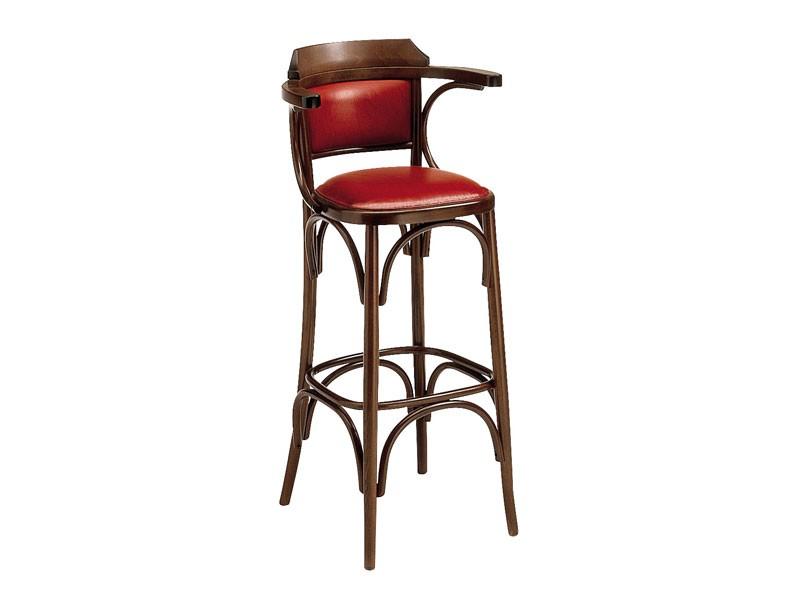 SG/600/imb, Taburete alto de madera curvada de pub y bar