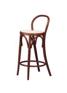 V05, Taburete de madera, asiento de paja de Viena, para bares de vinos