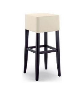 299, Taburete con asiento tapizado, sin respaldo