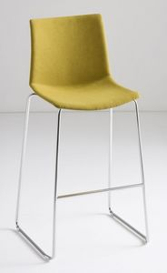 Kanvas Stool Front ST, Taburete de metal, asiento cubierto de tela