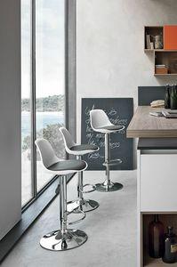 STOCCOLMA SG137, Taburete moderno para bar y cocina