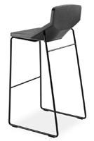 Formula80 stool h75 soft-poly, Taburete acolchado con poliuretano suave, para cocin,a bar y restaurante