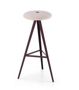 ART. 0122-H78-MET-IMB AKY, Taburete con asiento acolchado, altura 78 cm