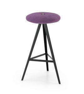 ART. 0122-H67-MET-IMB AKY, Taburete con asiento tapizado, altura 67 cm