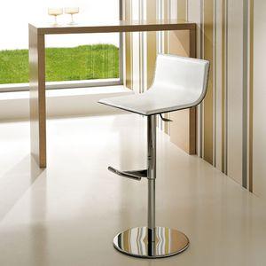 ART. 233/A LIFT, Taburete ajustable moderna, la elevación de gas, asiento de cuero