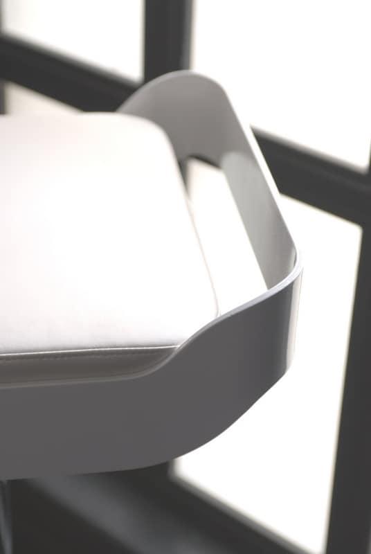 Belt, Taburete giratorio, asiento acolchado, ajustable en altura