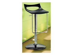 Diavoletto u stool, Taburete giratorio,, elevación de gas ajustable en altura