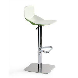 Formula tech ST-ADJ, Taburete con diseño minimalista, ajustable en altura y orientable, para encimera de la cocina y el bar