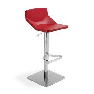 Formula80 adjustable soft-poly, Taburete ajustable, asiento tapizado, apto para restaurante y el bar