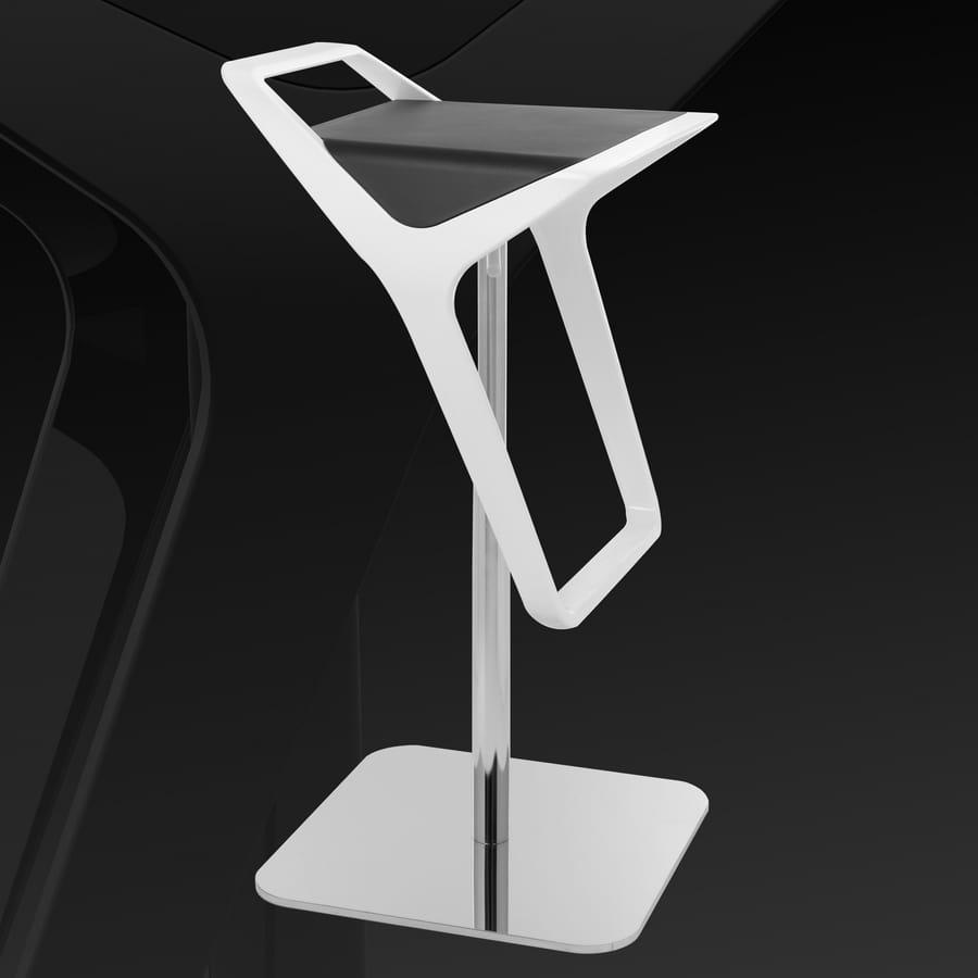 Freedom, Taburete ajustable contemporáneo con asiento en tecnopolímero